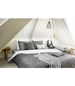 Dutch Decor Dekbedovertrek Wishes 155x220+80x80 cm grijs/wit