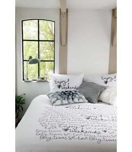 Dutch Decor Dekbedovertrek Weekends 140x220+20+60x70 cm zwart/wit