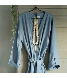 Dutch Decor Badjas Robe L/XL blauw