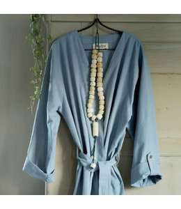 Dutch Decor Badjas Robe S/M blauw