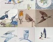 Murals with birds