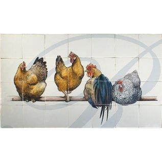 Dieren - Tieren - animals RH28-1, 4 chicken
