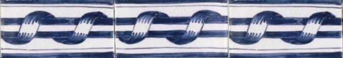Randtegels Kanten Fliesen - edge tiles RF0-1 Border - old Dutch tiles