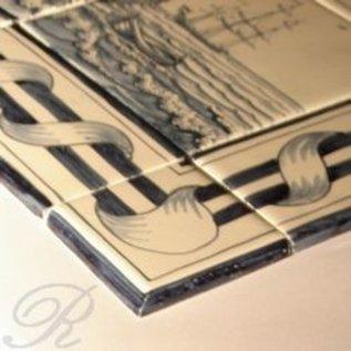 randtegels kanten fliesen - edge tiles rf0-1 border - old dutch tiles - Weie Fliesen Bordre