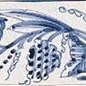 Randtegels Kanten Fliesen - edge tiles RF0-8, Druivenrank