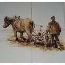 Dieren - Tieren - animals RH4-Farmer with plough