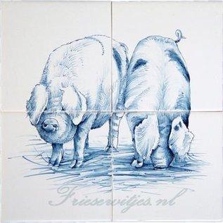 Dieren - Tieren - animals RH4-13Pigs