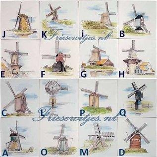 Taferelen - Bilder - scenes RF1-30k, Niederländische Windmühlen
