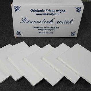 Witjes - Uni Fliesen - uni tiles Probepaket 6 Mischung von 6 kalt Weiß Tönen