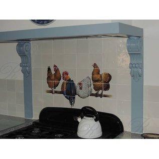 Voorbeelden - Fotogalerie - Photo Gallery Hühner auf Stange