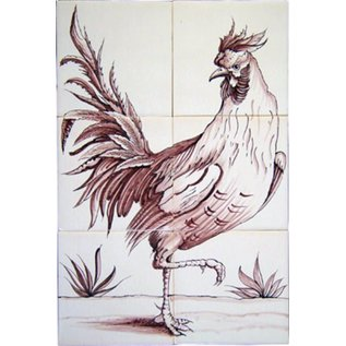 Dieren - Tieren - animals RF6-11 Rooster and hen