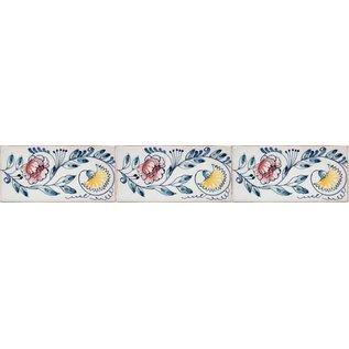 Randtegels Kanten Fliesen - edge tiles RH0-12 Chrysanthemums