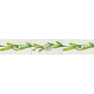 Randtegels Kanten Fliesen - edge tiles RH0-10, daisy