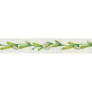 Randtegels Kanten Fliesen - edge tiles RH0-10, Gänseblümchen