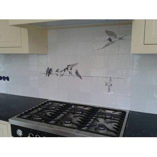 Voorbeelden - Fotogalerie - Photo Gallery Tiles with birds
