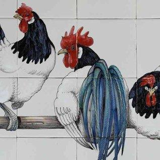 Dieren - Tieren - animals RH28-2, 4 chicken