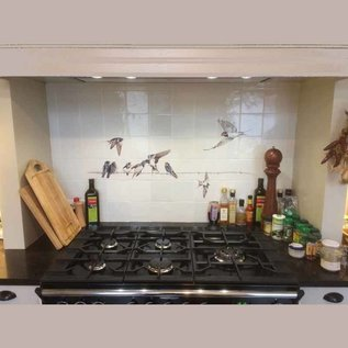 Voorbeelden - Fotogalerie - Photo Gallery Swallows over the stove