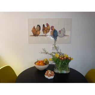 Voorbeelden - Fotogalerie - Photo Gallery Chickens on the wall