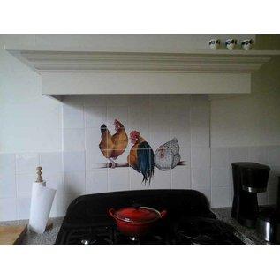 Voorbeelden - Fotogalerie - Photo Gallery Chickens as mural