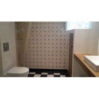 Voorbeelden - Fotogalerie - Photo Gallery Ox head tiles in the bathroom