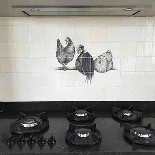 Voorbeelden - Fotogalerie - Photo Gallery Chickens in black / white