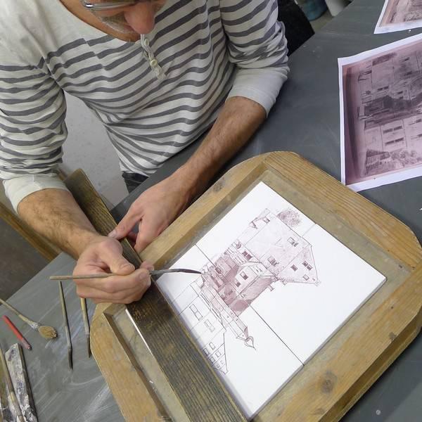 Hand gemalte motive friesische fliesen - Quadratmeter fliesen berechnen ...