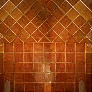 Witjes - Uni Fliesen - uni tiles Frisian tiles in Caramel color mix