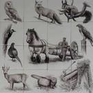 Taferelen - Bilder - scenes RH16 Animals in the forest