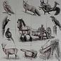 Taferelen - Bilder - scenes RH16 Tieren im Wald