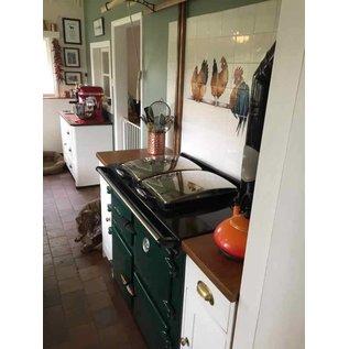 Voorbeelden - Fotogalerie - Photo Gallery Kippen op stok in een Engelse keuken