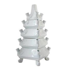 Schicht Vase Weiß