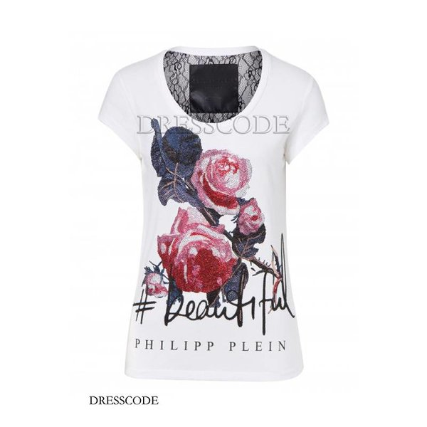 Romances top with pink print