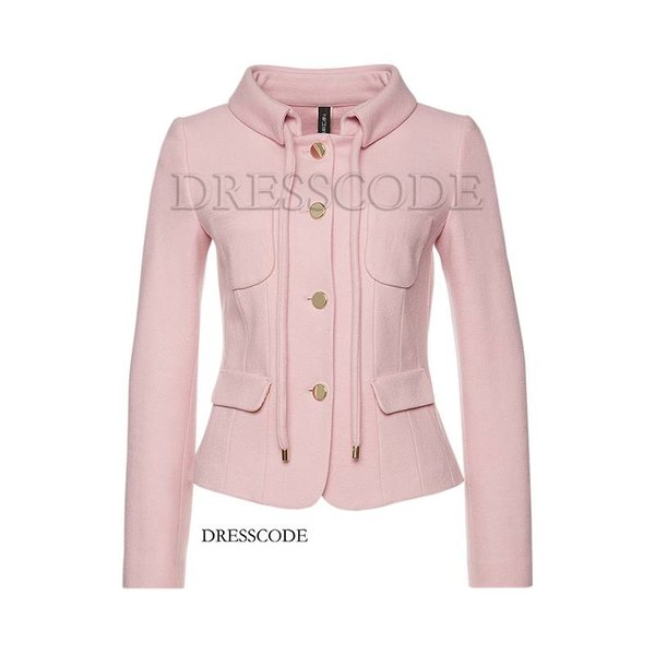 Wool jacket with bow rope