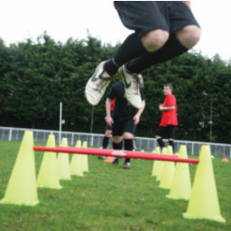 Diamond Football Agility Set  5 stokken en 10 pionnen in draagtas