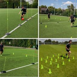 Trainingsset Pro kunstgras:  snelheid en coordinatie