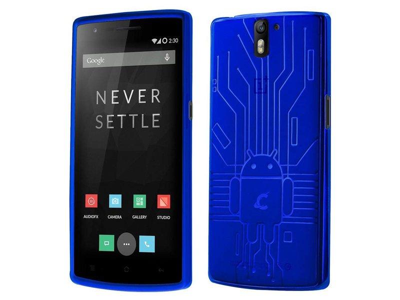 Cruzerlite Bugdroid Schutzhülle Blau OnePlus One