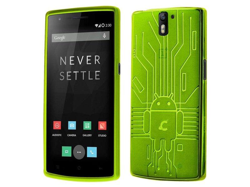 Cruzerlite Bugdroid Schutzhülle Grün OnePlus One