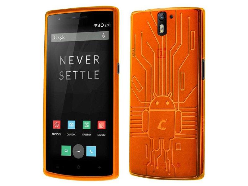 Cruzerlite Bugdroid Schutzhülle Orange OnePlus One