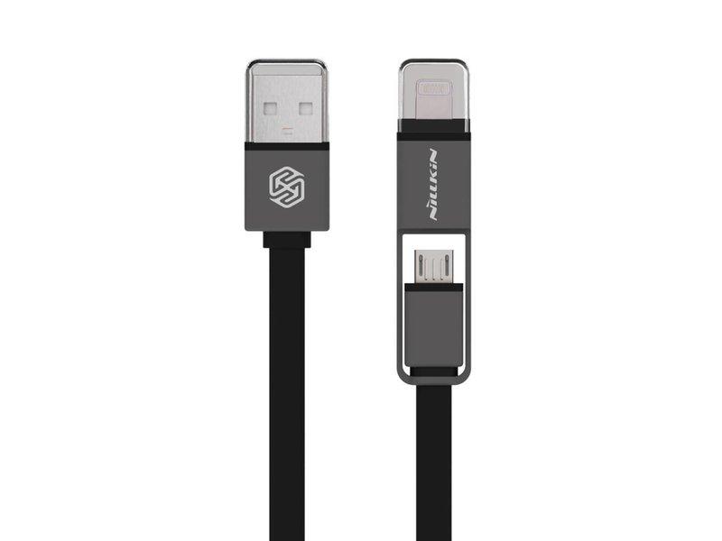 Nillkin Plus USB Kabel Mikro USB/Lightning Schwarz