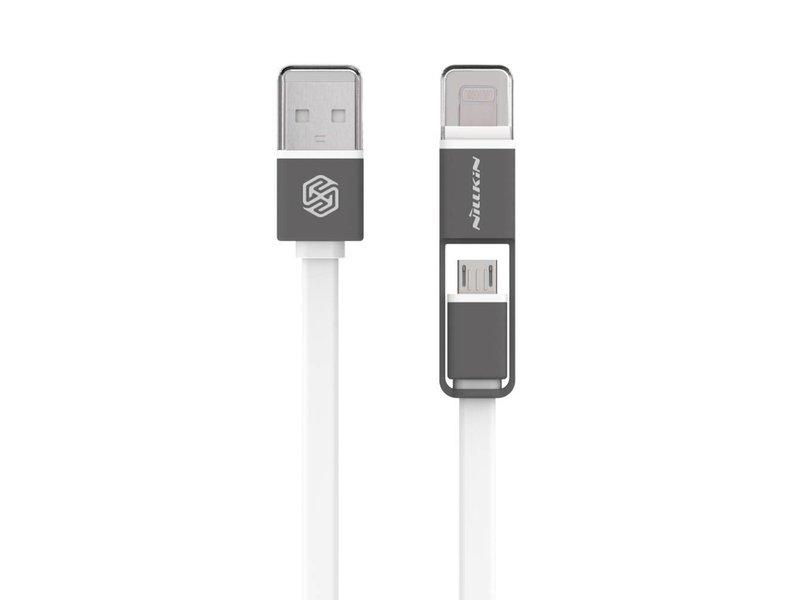 Nillkin Plus USB Kabel Mikro USB/Lightning Weiß