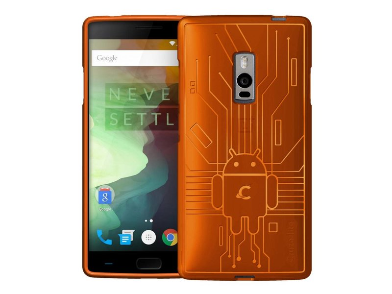 Cruzerlite Bugdroid Circuit Hülle Orange OnePlus 2