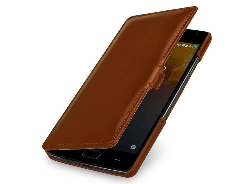 StilGut Handyhülle Book Clip Cognac OnePlus 2