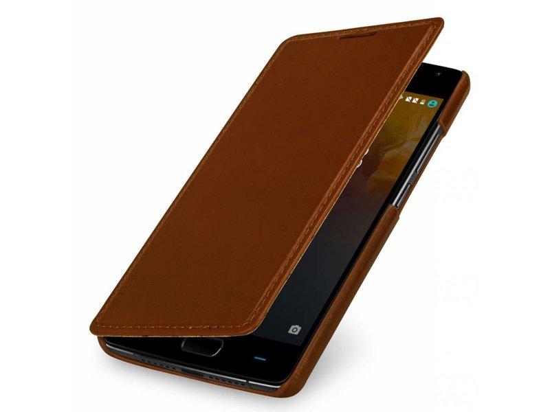 StilGut Handyhülle Book Ohne Clip Cognac OnePlus 2