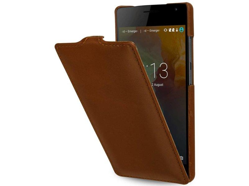 StilGut Handyhülle Ultraslim Cognac OnePlus 2
