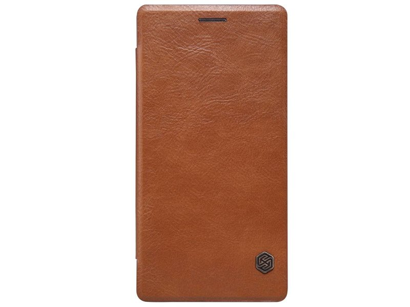 Nillkin Qin Leder Flip Case Braun OnePlus 2