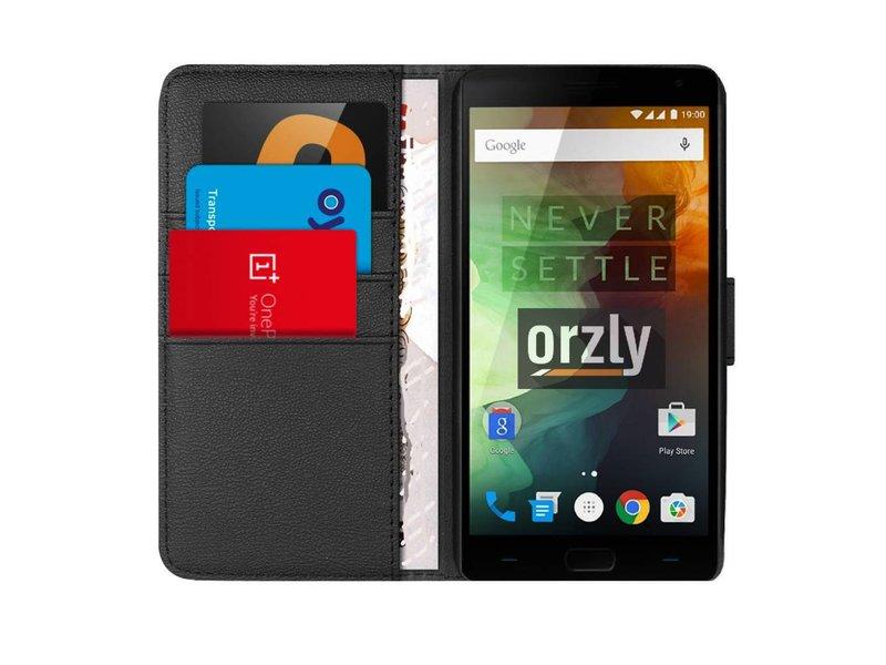 Orzly Wallet Flip Case Schwarz OnePlus 2