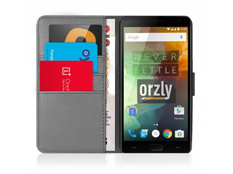 Orzly Wallet Flip Case Grau OnePlus 2