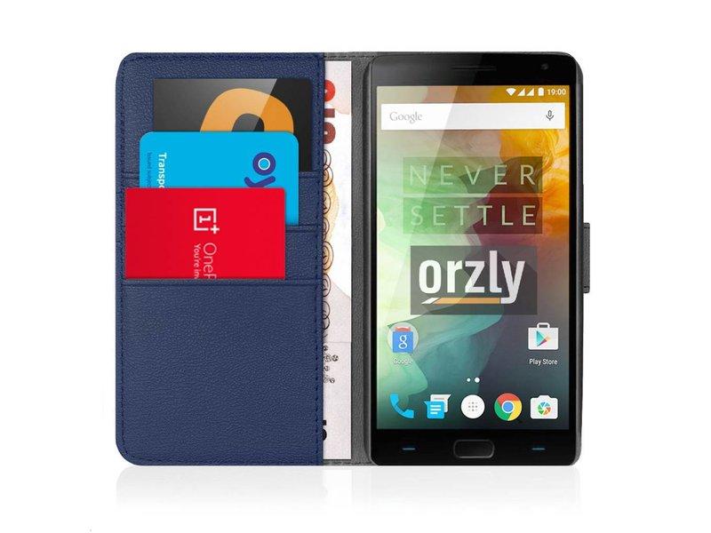 Orzly Wallet Flip Case Blau OnePlus 2