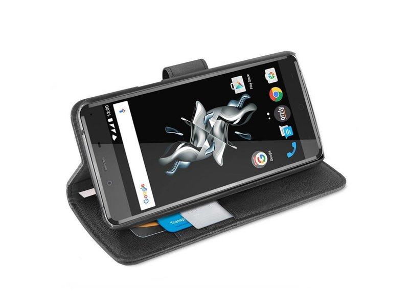 Orzly Wallet Flip Case Schwarz OnePlus X