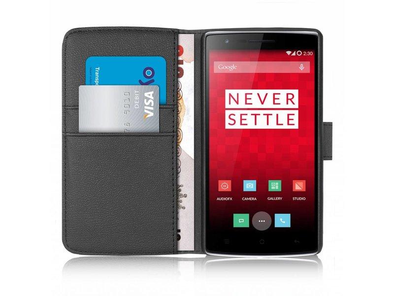 Orzly Wallet Flip Case Schwarz OnePlus One